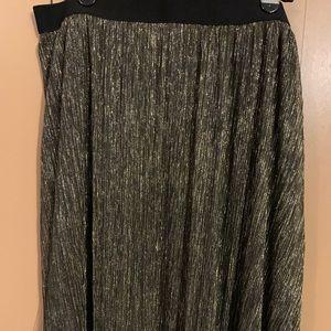 Ava & Viv black and gold skirt 1X NWT